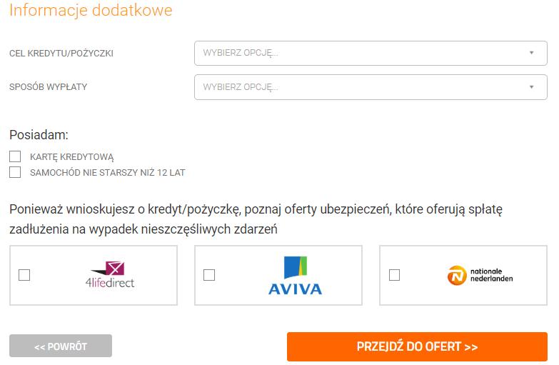 Automat Kredytowy - finalizacja wniosku