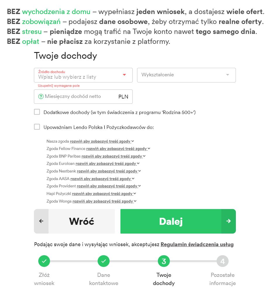 Pożyczki bankowe online LendoPolska