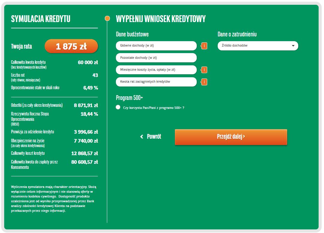 BNP Paribas - wniosek kredytowy przez Internet