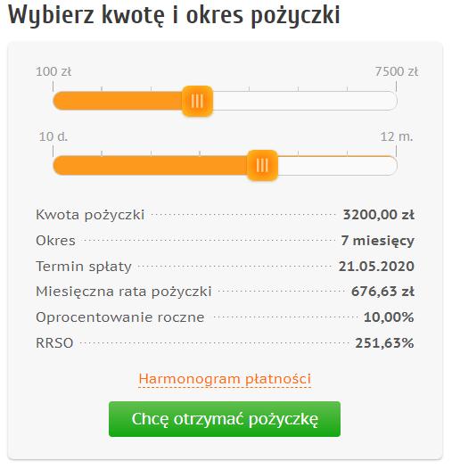 Kalkulator pożyczkowy Credit.pl