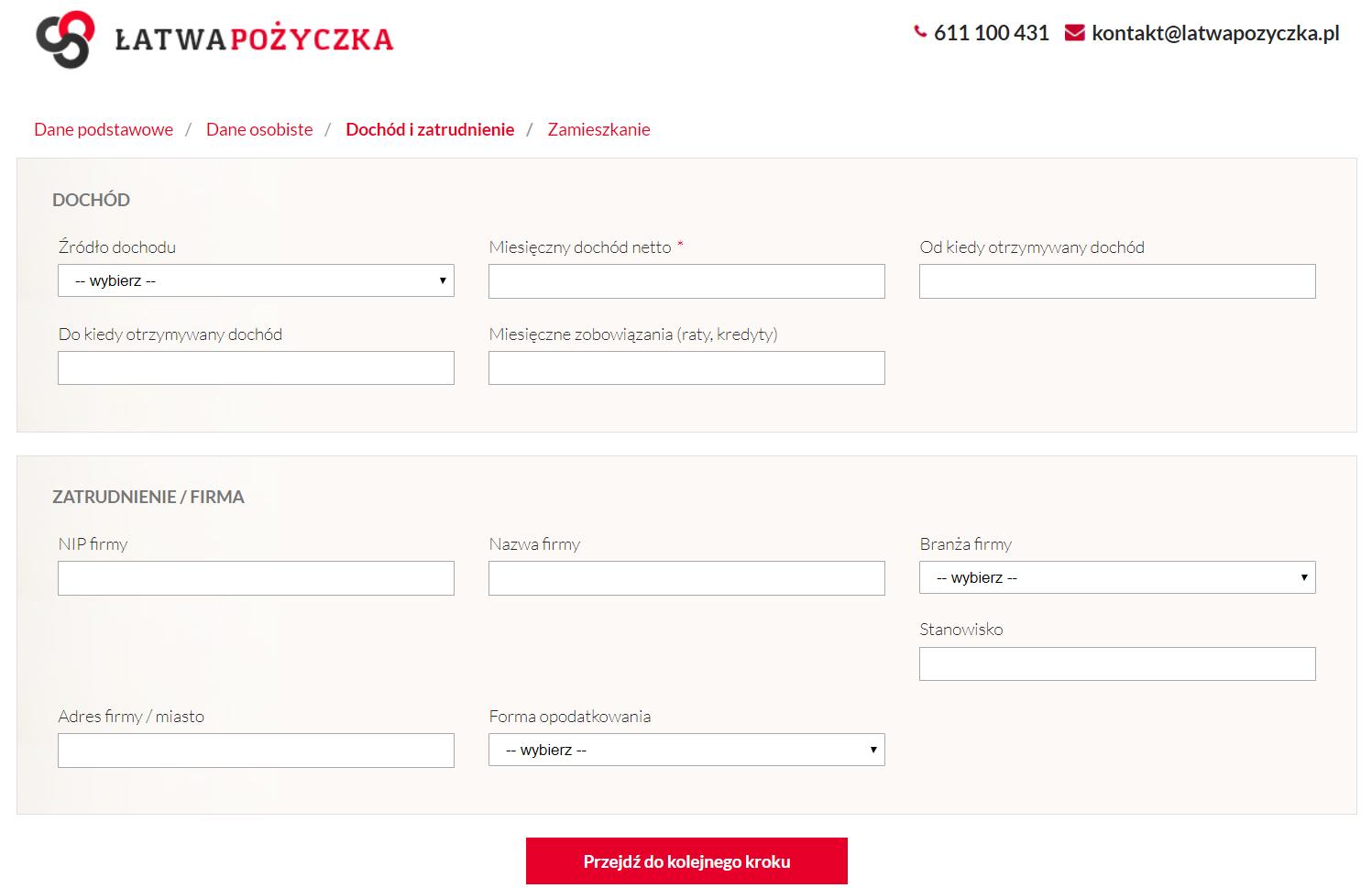 Pożyczka online 20 000 zł