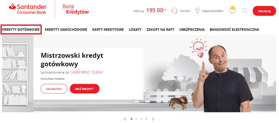 Santander kredyt online