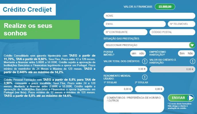 Formulário Credijet