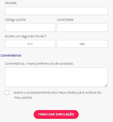 Simulação on line Partners Finances Comentários